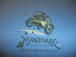"ODELL BREWING CO ""MYRCENARY DOUBLE IPA"" FORT COLLINS,CO T-SHIRT MEN'S 2XL"