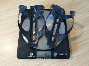 A Pair of 2 - Ultra Lightweight Carbon Fibre Water Bottle Cages - just 23g each!