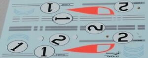 decal 1/43 FORD GT40 MKII SHELBY n°1 + 2 1° 24h Le Mans 1966 RENAISSANCE TK43/22