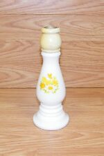 Vintage Avon Milk Glass Candle Stick Spring yellow Flowers Decanter *Read*