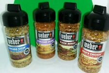 WEBER [GRILL SEASONINGS]  For Burgers/Steaks/Chicken/Fish Variety Lot of 4!