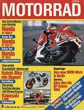 Motorrad 6/84 1984 Cimatti Kaiman HRD RPE Honda VF750F KTM 600 GS Puch 500 HW