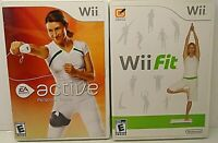 2 Wii Games ACTIVE PERSONAL TRAINER/Complete & Wii FIT/No Manuel - VERY GOOD