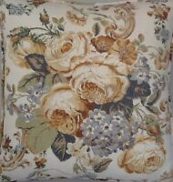 A 16 Inch Cushion Cover In Laura Ashley Victoria Gold Fabric