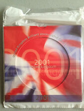 2001 Royal Mint Brilliant Uncirculated Coin Set - FREE SHIPPING