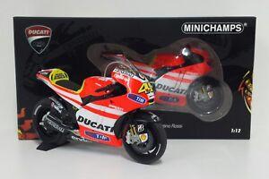 MINICHAMPS valentino rossi 1/12 Modèle Miniature Ducati Motogp 2011 Diecast