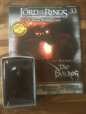 Eaglemoss Lotr Chess 33 THE BALROG Black Rook  + Magazine