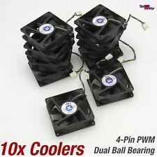10x GEHÄUSE CASE SYSTEM COOLER LÜFTER 80x80x25MM 80MM 4-PIN 12V JMC 8025-12HB
