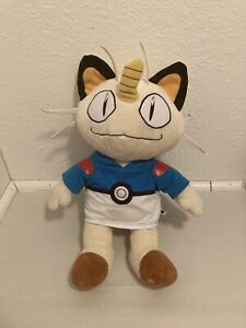Pokemon Meowth Plush Talking Build a Bear Works 17 inches Pokemon Trainer Hoodie