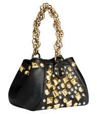 Versace for H&M Black Leather Studded Handbag New with Tags BNWT !! RETIRED !!