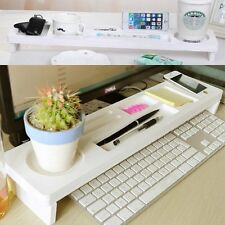 Shelf Desktop Storage Rack Office Table Desk Organizer Keyboard Drawer Rack UK