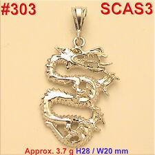 #303 Dragon Lizard Zodiac Charm Pendant Jewelry 925 Sterling Silver Necklace