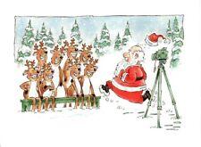 Funny Photographer Santa Taking Photo Merry Christmas Greeting Cards - Set of 16