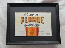 GUINNESS BLONDE AMERICAN LAGER  BEER SIGN  #1158