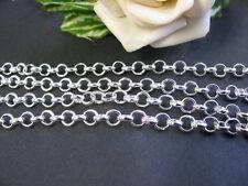 1m Gliederkette silber - hell, Schmuck mit Perlen basteln, Fädelmaterial