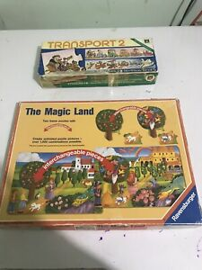 """Vintage Child Puzzle """"Magic Land"""" And """"Transport 2""""Two Puzzles Complete"""