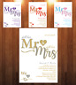 10 Personalised Wedding Blessing/Renewal of Vows Invitations Invites + Envelopes