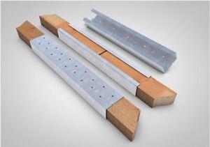 10 Stück TECTUM Dachlatten Verlängerung Verbinder BRIEL 2000 mm 40 x 60 LATTUNG