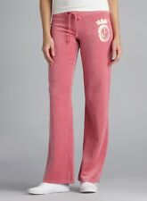JUICY COUTURE HUSHED MULBERRY VELOUR PANTS New XL $98