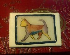 Handpainted UNUSUAL1 OFF Ceramic Deco style SMOOTH COAT CHI,CHIHUAHUA,Dog brooch