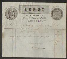 """LIMOGES (87) MIROITIER DOREUR """"LEROY"""" en 1863"""