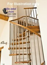 1430mm Modern Spiral Staircase - Contemporary Hardwood & Stainless Steel Stairs