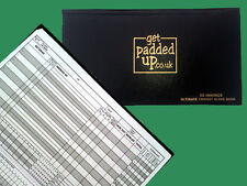 "Getpaddedup ultimate ""cricket scorebook (60 manches)"