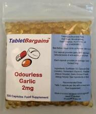 Tablet Bargains Garlic (Odourless) 2mg - 500 Capsules