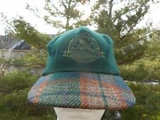 VTG. EDDIE BAUER OUTDOOR/OUTERWEAR RECYCLE WOOL GREEN HAT MADE IN USA