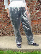 4 x XL Disposable Clear PVC Trousers Plastic Fishing Waterproof Painting Concert
