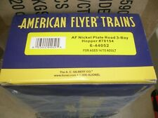 LIONEL 44052 AMERICAN FLYER NKP ROAD 3 BAY HOPPER -  MAKE OFFERS!
