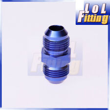 3AN to AN3 Aluminium Straight Male Flare Union Fitting Adapter Blue