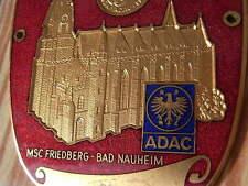 PLACCA ADAC MSC Tha-Bad Nauheim 16. INT. destinazione viaggio 1978 AUTO CORSA