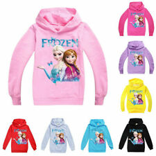 Frozen Princess Girls Hoodies Sweatshirt Pullover Long Sleeve Jumper Hooded Tops