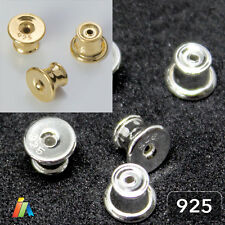 925 STERLING SILVER EARRING BACKS STOPPERS POST with Silicone Inside 5mm    _408