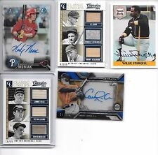 2014 CLASSICS TED WILLIAMS DIMAGGIO FOXX TRIPLE JERSEY BAT # 18/99 1 CARD ONLY