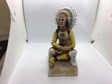 Original Lionstone Sculpted Porcelain 1973 Ltd Edition Tribal Chief Decanter