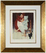 "Norman Rockwell - ""My Hands Shook"",  hand-signed lithograph, Framed"