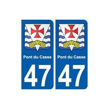 47 Pont-du-Casse blason autocollant plaque stickers ville droits