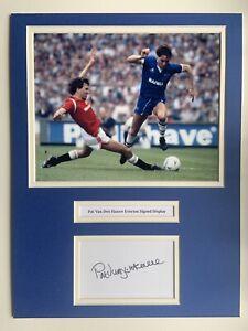 """Everton Pat Van Den Hauwe Signed 16"""" X 12"""" Double Mounted Display"""