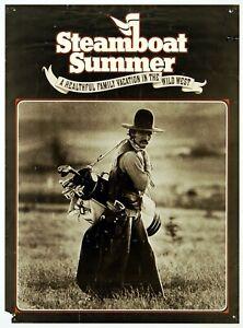 """STEAMBOAT SUMMER"" (1978) *COLORADO COWBOY* - Wild West Ski Resort *GOLF POSTER*"