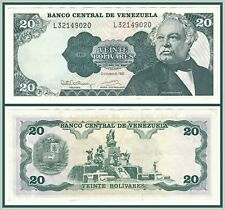 1992 Venezuela 20 Bolivares About Uncirculated AU Currency