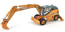 Case WX185 - Wheeled Excavator - 1/87th H0 Scale Yellow/Black - Tracked 48 Post