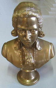 Büste Mozart 31 cm Gold bronziert
