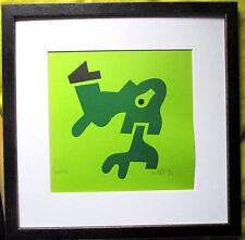 OTMAR ALT orig. Linolschnitt 476/500 HAND-SIGNIERT, datiert 30x30 Rahmen,signed