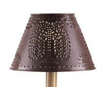 """New Park Designs Farmhouse Primitive Style Metal Lamp Shade - 12"""" Red Willow"""