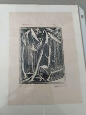 """1952 ORIGINAL SIGNED MYRL EFREM """"Spare Trees""""  MONHEGAN ISLAND MAINE"""