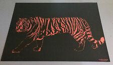 "vintage black light poster universal poster corp. 1972 ""Tiger"" pin-up animal cat"