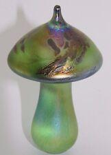 NEO ART GLASS fatto a mano iridescente verde PIXIE FUNGO FIRMATO K. Heaton
