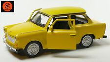Trabi-Jubiläum 2014: 50 Jahre Trabant 601 Modellauto 11cm WELLY Sonderfarbe gelb